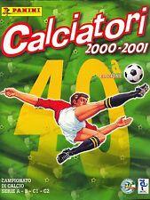 """PANINI: ALBUM FIGURINE """"Calciatori 2000 - 2001"""" - COMPLETO + Aggiornamenti RARO"""