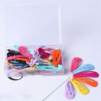 30PCs Fashion Women Candy Color Paint Hair Snap Clip Hairpin Barrette Gift