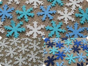 FELT x24 SNOWFLAKES Small 3.5cm die cut Christmas Ornaments Appliqués Advents