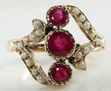9 Carat Ruby Yellow Gold Vintage Fine Jewellery