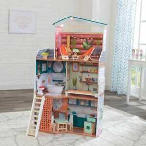 KidKraft Marlow Dollhouse | Kids Wooden Dolls House | Fits Barbie Sized Dolls