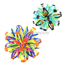 LOT OF 2X EXPANDABLE TRANSFORMING EXPANDING SPHERE BALL FUN TOY- BLUE& RAINBOW