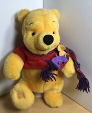 """Collectible Winnie The Pooh Blustery Day Pooh With Scarf 13"""" Plush Bear Toy"""