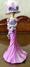 Thomas Kinkade Collection Promise in Purple Woman in Feather Hat Figurine 2009