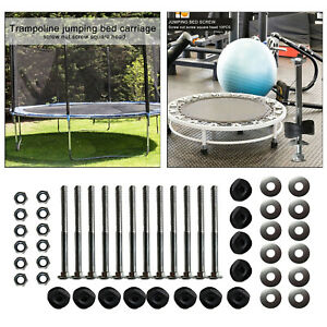 12pcs Trampoline Black Pole Gap Spacers Enclosure Replacement for Stability Free