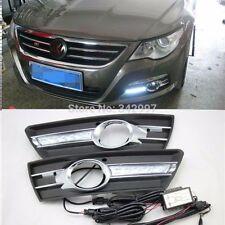 2x LED Daytime Running Light DRL Fog Lamp For Volkswagen Passat CC 2009-2012