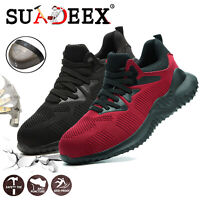 Mens Safety Shoes Steel Toe Trainers Work Hiking Shoes Outdoor Sports Boots UK