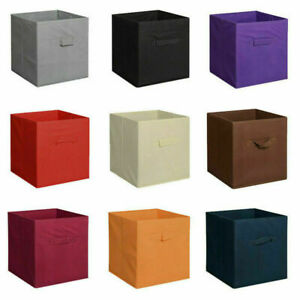 Canvas Collapsible Storage Cubes - Various Colours - With Handle - EsmeLilly