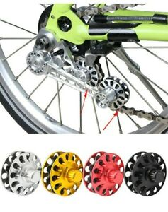 1pair Folding Bicycle Chain Guide Disc Mountain Bike Tensioner Refit Tower Wheel