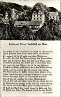 Hirsau Schwarzwald Ansichtskarte 1950/60 Jagdschloß mit Ulme Text von L. Uhland
