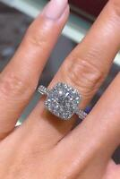 2.50 Ct Round Solitaire Diamond Engagement Wedding Ring 14k White Gold Over