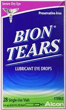 Pacote com 12 Bion Lágrimas Lubrificante Colírio frascos de uso único contagem de 28 cada (336 no total)