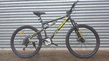 NEW SUPERFLY MTB 21 Speed Dual Suspension Mountain Bike - MATT BLACK