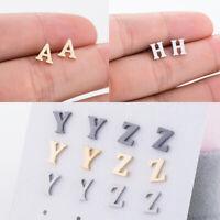 New Women A-Z Alphabet Earrings Tiny Lovely Letter Ear Stud Jewellery Decoration