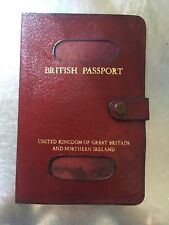 True Vintage Leather Passport Holder Burgundy