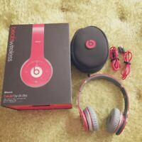 Beats By Dr.Dre Wireless Solo Headphones Red Studio Beets