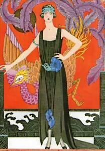 Original Vintage Art Deco Fashion Print George Barbier Gazette du Bon Ton
