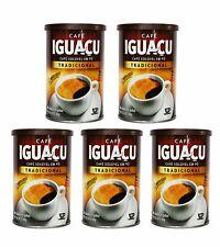 IGUACU Black Spray Dired Instant Coffee - (100g Tins x 5 Pots) Brazilian Coffee