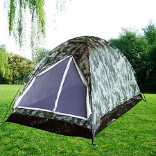 2 Person Ultralight Camo Backpack Tent Outdoor Camping Hiking Forest Dome Tent
