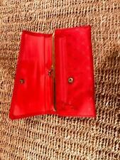 Red Wallet with Separate Check Book Cover