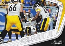 Two card lot 2018 Score Football Celebration Pittsburgh Steelers Le'veon Bell