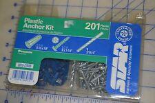star contractors pack 201 pieces plastic anchor kit concrete w/bit