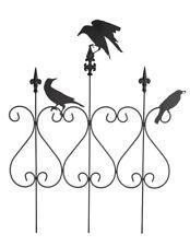 Victorian Trading Co Raven Trio Wrought Iron Halloween Garden Rail Fence
