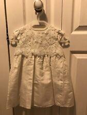 JOHN ROCHA Silk & Lace Christening Gown & MONSOON Bolero Cardigan, 12-18 Months
