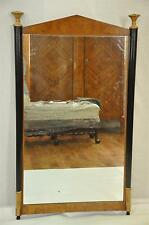 Art Deco Ebonized and Gold, Burled Ash Mirror, Biedermeier Influence, c. 1920's