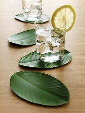 Design Ideas BALI HAI DRINK COASTERS Set of 4 Leaf shape/green eva foam 6416401