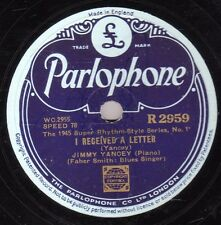 "BLUES JIMMY YANCEY/ FABER SMITH 78 ""I RECEIVED A LETTER / E. ST. LOUIS BLUES"" E+"