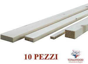 4 Pz Listello Listelli in Abete Grezzo 40x40x2000 mm conf