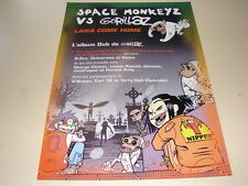 GORILLAZ VS SPACE MONKEYS LAIKA!!!RARE FRENCH PRESS/KIT