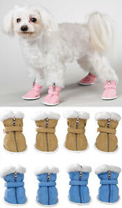 SNUGGLY FAUX SUEDE COZY DOG BOOTS - CLEARANCE