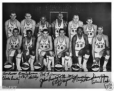 1967-68 DALLAS CHAPARRALS ABA BASKETBALL TEAM 8X10 PHOTO PICTURE CLIFF HAGAN