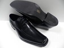 Chaussures ZY noir HOMME taille 42 garcon costard mariage cérémonie NEUF #2022