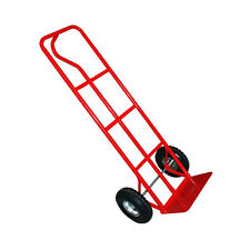 Rhyas 600lb D Handle Sack Truck Pneumatic Tyres Industrial Hand Trolley