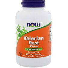 Valerian Root Extract Capsules 500mg Strength by Now Foods Natural Sleep Aid 250
