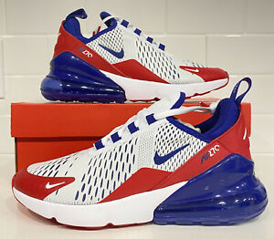 Nike Air Max 270 GS Shoes White/Red/Blue CW5855-100 Youth Size 5.5Y Women's 7