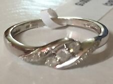 Sterling Silver 1/4 Carat Diamond Promise Ring - Size 7