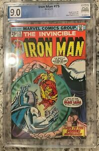 IRON MAN #75 PGX 9.0!! NEW CASE!! NOT CGC All titles 1-100 listed!