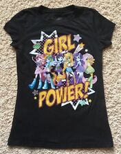 My Little Pony Girl Power Youth Large Glitter Tshirt Black Fine Brand