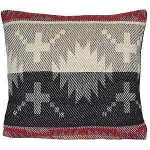 "Cotton Cushion Covers Aztec Black Orange Cream 16"" 40x40cm Chenille Sofa Throw"