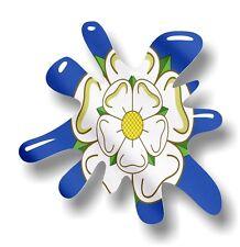 Retro Vieja Escuela Splat & Yorkshire Rosa York County Bandera Vinilo Coche Pegatina Calcomanía