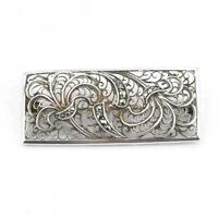 Wunderschöne alte Brosche aus Silber mit Markasiten