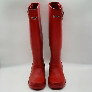 Red Town and Country Bosworth Wellington Boots womens 4 EU37 Wellies Gardening