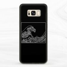Case For Samsung S8 S9 S10 S20 Note 8 9 10 Plus Aesthetic Black Kanagawa Wave