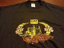 VTG 90s CAT Diesel Power Dozer Shirt XXL Holoubek Caterpillar Bulldozer