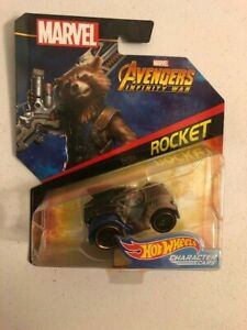 Hot Wheels Character Car Rocket Raccoon---Minor Package Damage--Ships Fast