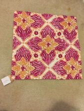 """1 Pottery Barn Belle Embroidered Pillow Cover Cotton 24"""" Square Pink Orange Gold"""